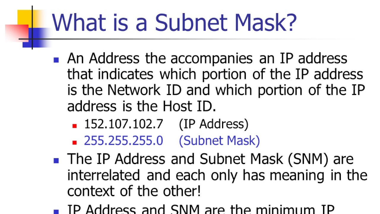 what is a subnet mask